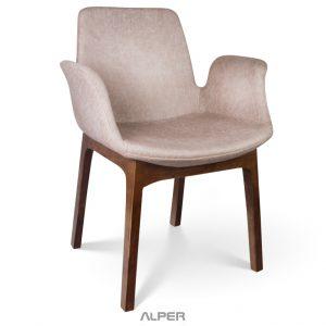 صندلی چوبی دسته دار ANS-106WT