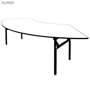 میز پایه تاشو صفحه هلالی PND-512XiW