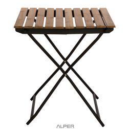 میز - میز تاشو - میز تاشو ترمووود - میز صفحه چوبی - میز چوبی - میز ترمووود تاشو - میز تاشو ترمووود