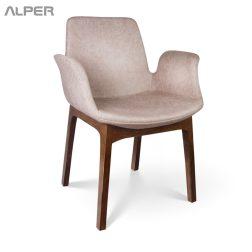 ANS-106WT - صندلی دسته دار - صندلی چوبی - صندلی چوبی دسته دار - صندلی آلپر - آلپر - صندلی تالار - صندلی تالاری - صندلی آشپزخانه - صندلی هتلی - میز و صندلی ناهار خوری