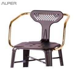 صندلی یوفو - صندلی یوفو دسته دار و پشتی دار - ندلی ناهارخوری - صندلی کافی شاپی - صندلی فلزی - صندلی دسته دار - صندلی فلزی دسته دار - صندلی آشپزخانه - kitchen chair - counter stool - open chair - coffeeshop chair