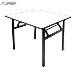 میز پایه تاشو مربع - PND-508XiW - مبلمان پاندا - مبلمان آلپر - آلپر - میز تاشو - میزتاشو - میز فلزی - میزفلزی - میز فلزی تاشو - میز فلزی آلپر - میز آلپر - آلپر - Alper