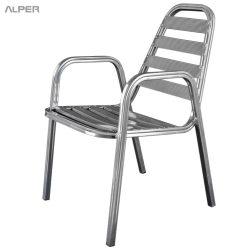 صندلی فلزی - صندلی آلومینیومی - صندلی فضای باز - صندلی باغی - صندلی کافی شاپی - صندلی - صندلی آلپر - صندلی دسته دار - صندلی آلومینیومی دسته دار - صندلی دسته دار آلومینیومی - آلپر - صندلی آلپر - Alper