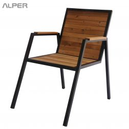میز ترمووود - صندلی ترمووود - مبلمان ترمووود - میز و صندلی ترمووود - صندلی ترمووود پاندا PND-121iW