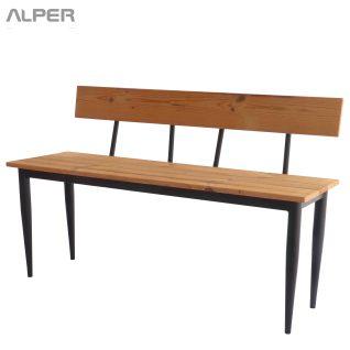 نیمکت فضای باز - نیمکت کافی شاپی - نیمکت ترمووود - نیمکت - ترمووود - نیمکت پشتی دار - نیمکت کافی شاپی - outdoor bench - thermowood bench