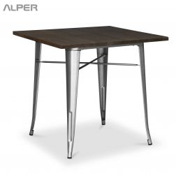 میز ناهارخوری کوچک - میز و صندلی و مبلمان آلپر - میز مربع تولیکس - میز رستورانی هتلی کافی شاپی - میز پایه فلزی - میز صفحه چوب ام دی اف - table - tulix table
