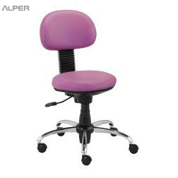 صندلی کارمندی بدون دسته - صندلی اپراتوری - صندلی گردان - صندلی اداری - صندلی آلپر - Alper - ندلی ویژه | صندلی کافی شاپی | صندلی رستورانی | صندلی راحتی | صندلی خوب | آلپر