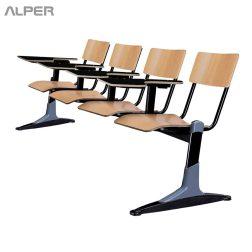 صندلی دانشجویی - صندلی دانش آموزی - صندلی محصلی - صندلی تحصیلی - صندلی آموزشی - صندلی دانشگاهی - صندلی دسته دار - صندلی دسته دار چهارنفره - صندلی دانشجویی چهارنفره - صندلی دانشجویی چهار نفره - Alper - آلپر - صندلی آلپر - مبلمان اداری آلپر - صندلی های دانشجویی آلپر