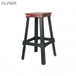 چهارپایه فلزی - چهارپایه - چهار پایه - چهار پایه فلزی - metal stool - Alper - آلپر - الپر