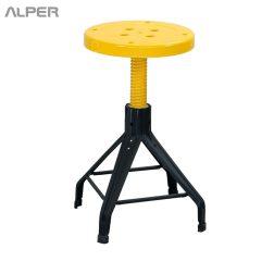 چهارپایه صنعتی - چهار پایه صنعتی - چهار پایه فلزی - چهار پایه - چهار پایه ساده - چهارپایه - چهارپایه صنعتی - چهارپایه آلپر - چهارپایه گردان - چهارپایه گرد - چهار پایه گرد - آلپر - Alper