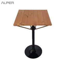 میز چوبی - میز تک پایه چوبی - میز چوبی تک پایه - میز چوبی - میز صفحه چوب - میز صفحه چوبی - میز آلپر - میز - Alper - table