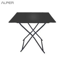 folding table - میز تاشو صفحه فلزی - میز پایه تاشو - میز مسافرتی - میز فلزی تاشو - میز تاشو - میز صفحه پانچ - میز تاشو صفحه پانچ - میز ناهارخوری - میز ناهار خوری - میز فضای باز