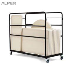 trolley - ترولی حمل میز - ترولی حمل - ترولی - ترولی آلپر - آلپر - Alper