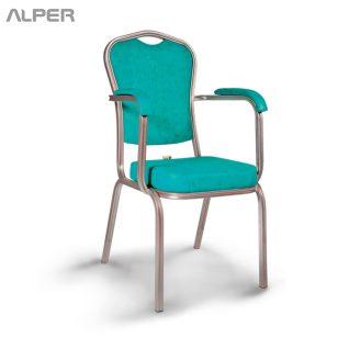 صندلی آلومینیومی بنکوئیت - صندلی آلومینیومی - دسته دار - صندلی رستورانی - صندلی هتلی - صندلی تالاری - صندلی تالار - صندلی آلومینیومی - صندلی بنکوئیت - آلپر