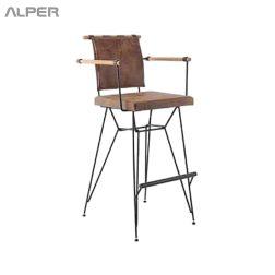 صندلی بار مفتولی آهنی - صندلی اپن - صندلی آشپزخانه - صندلی اشپزخانه - صندلی - صندلی آلپر - صندلی بلند - صندلی کافی شاپی - صندلی کافی شاپ - صندلی فلزی - صندلی اتراک