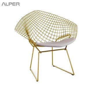 صندلی کافه - مبلمان باغی - صندلی باغی -صندلی مفتولی آهنی - صندلی مفتولی، صندلی آهنی، صندلی دیاموند، صندلی آلپر، آلپر، Alper - صندلی آشپزخانه - صندلی کافی شاپ - صندلی کافی شاپی - صندلی رستورانی