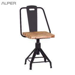 صندلی فلزی با نشیمن چوبی - صندلی یوفو قابل تنظیم - صندلی کافی شاپی - صندلی رستورانی - صندلی ناهارخوری - صندلی فضای باز - dining chair - coffeeshop chair - kitchen chair - صندلی آشپزخانه - outdoor chair