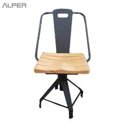 صندلی نشیمن چوبی - صندلی فلزی با نشیمن چوبی - صندلی یوفو قابل تنظیم - صندلی کافی شاپی - صندلی رستورانی - صندلی ناهارخوری - صندلی فضای باز - dining chair - coffeeshop chair - kitchen chair - صندلی آشپزخانه