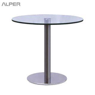 میز گرد شیشه ای - میز شیشه ای - میز آلپر - میز پاندا - میزهای شیشه ای - خرید میز و صندلی - خرید اینترنتی میز - آلپر - Alper