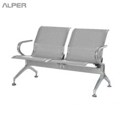 صندلی - صندلی فرودگاهی دونفره - صندلی فرودگاهی با دسته استیل - صندلی انتظار دونفره - صندلی انتظار - مبلمان فرودگاهی - صندلی های انتظار - صندلی انتظار فرودگاهی - waiting chair