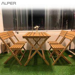 صندلی - صندلی چوبی - صندلی چوبی تاشو - صندلی مسافرتی - صندلی تاشو - آکاژو