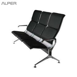 صندلی انتظار دونفره فرودگاهی - آلپر فروشگاه اینترنتی مبلمان و دکوراسیون هتل، تالار، رستوران و کافی شاپ