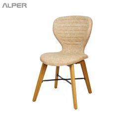 صندلی رستورانی پایه چوب - صندلی رستورانی - صندلی رستوران - صندلی - صندلی آشپزخانه - صندلی کافی شاپی