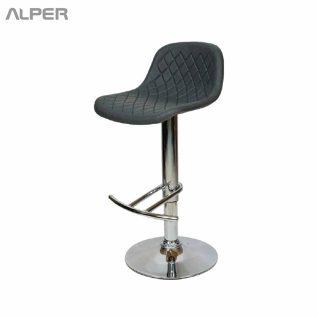 صندلی اپن خاکستری - صندلی اپن - صندلی آشپزخانه - صندلی کافی شاپی - صندلی فضای باز - coffeeshop chair - kitchen chair - stool bar -