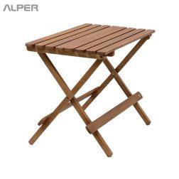 میز چوبی کافی شاپی تاشو - آلپر فروشگاه اینترنتی مبلمان و دکوراسیون هتل، تالار، رستوران و کافی شاپ