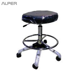 صندلی اداری گردان اپراتوری آزمایشگاهی پزشکی دندانپزشک تابوره آزمایشگاهی - صندلی تابوره - صندلی آزمایشگاهی