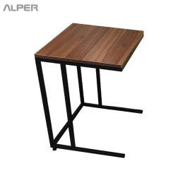 میز فلزی مستطیل صفحه ام دی اف میز عسلی - میز جلومبلی - آلپر-فروشگاه اینترنتی مبلمان و دکوراسیون هتل، تالار، رستوران و کافی شاپ